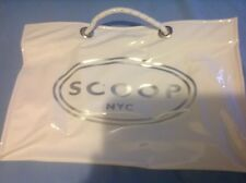 Scoop NYC Vinyl Shopping Tote New White