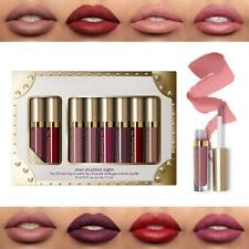 8pcs/set Long Lasting Makeup Matte Lip Gloss Kit Liner Liquid Lipstick Cosmetic