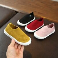 ChildrenKids Baby Girls Boys Solid Mesh Sport Run Sneakers Casual Trainer Shoes
