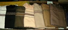 PATU SHAWL AFGHAN PATOO BLANKET WOOL LONG SCARF WRAP WHOLESALE BUNDLE LOT OF 10