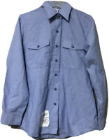 DSCP Quarterdeck Womens Blue US Navy Utility Shirt Size 38 M/L 32 SL New