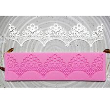Silicon Fondant Lace Cake Sugar Molds Baking Mat Texture Decorating #3 NEW
