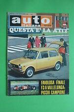 AUTO ITALIANA 41/1969 INNOCENTI A 112 F3 COPPA CHEVRON VINCE GIAN LUIGI PICCHI