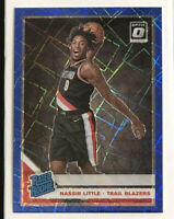 2019-20 Donruss Optic Nassir Little RC Blue Velocity Prizm #154 RATED ROOKIE