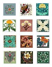 Nouveau Tile Art Cotton Mini Quilt Block Collection 2A FrEE ShiPPinG WoRld WiDE