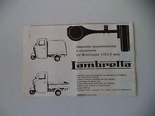 advertising Pubblicità 1963 MOTOFURGONE LAMBRETTA 175 LI / II SERIE