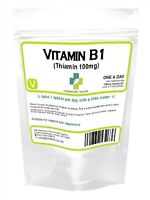 Vitamina B1thiamin Tiamina 100 Compresse 100mg Neuritis Energia Metabolismo UK