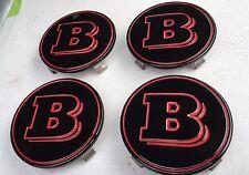 "BRABUS Logo WheeL Center CapGenuine Fit G-class 4x4 ""RED""Aluminum Size 75 MM (4)"