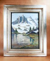 Ross Gill WA Northwest School Cascade Mountain Scene NW Gouache Art Painting!