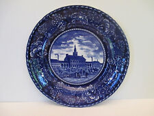 "Rowland & Marsellus ""Independence Hall"" Flow Blue 10"" Plate"
