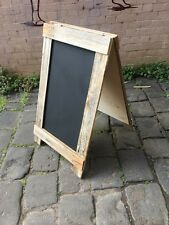 Large A-Frame Menu Chalkboard, Recycled Timber, Rustic Sandwich Blackboard