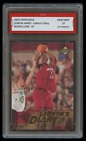 2003 LEBRON JAMES #LJ7 UPPER DECK UD DIARY 1ST GRADED 10 ROOKIE CARD RC LAKERS