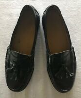 COLE HAAN Sz 9.5 D Men's Black Leather Dress Shoes Penny Loafers Slip-On Tassles