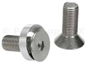 """3/8"""" X 24T crank spindle bolts w/ concave washers fits Profile (PAIR) STAINLESS"""