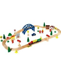 Chad Valley New Wooden Train Big 60 Piece Set Christmas Gift for kids Birthday