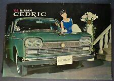 1964 Nissan Cedric Sedan Sales Brochure Folder Datsun Excellent Original 64