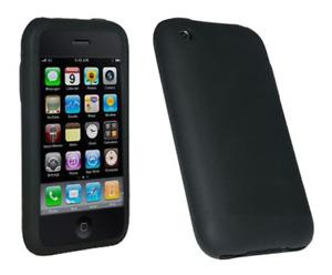 Housse Etui Silicone (NOIR) ~ Apple iPhone 3G / iPhone 3GS