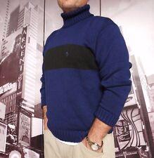 Polo Ralph Lauren Turtleneck MEN'S size S NAVY / BLACK Must Have !!! NEW