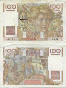 France Banknote - 100 Cent Francs from 1953