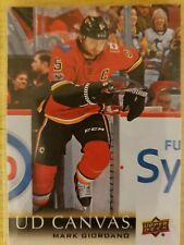 2018-19 Upper Deck Series One UD Canvas C12 Mark Giordano Calgary Flames