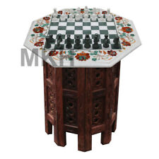 Handmade Marble Chess Set, Chess Table for Living Room, Free Shipping