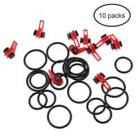 10pcs Fishing Rod Hook Keeper Holder Clip Lure Spoon Bait Tackle Accessories