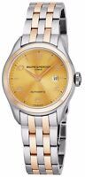 Baume Mercier Women's Clifton Stainless Steel/Rose Gold Automatic Watch A10351