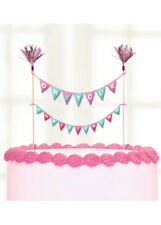 Amscan 9901947 23 X 24 Cm on Your Christening Day Pink Cake Picks