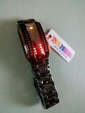BNWT SKMEI 30M WATER RESISTANT DIGITAL 3D RECTANGLE CURVED DIAL BLACK COLOUR