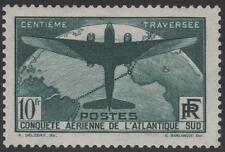 "FRANCE N° 321 "" TRAVERSEE ATLANTIQUE SUD AVION 10F VERT FONCE "" NEUF xx SUPERBE"