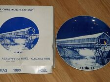 Hutschenreuther 'The Covered Bridge At Hartland' Plate Canada Xmas 1980 In Box