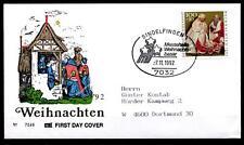 Weihnachten. Weihnachtsmarkt Sindelfingen. SoSt-Brief. BRD 1992