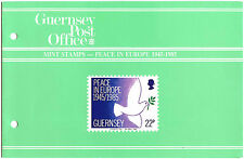 Guernsey 1985 Peace In Europe MNH Presentation Pack #C40453