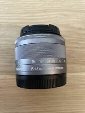 CanonEF-M 15-45mm f/3.5-6.3 IS STM Silver Standard Zoom Mirrorless Lens