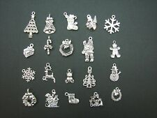 """20 Christmas """"Antique Look"""" Metal Crafting Charms - AUSTRALIAN STOCK"""