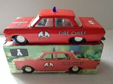 Fire Chief car Plasticart tinplate friction motor nr mint boxed