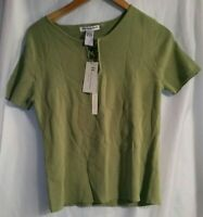 Hanna Jones Pullover Knit Top Shirt Green Women's Size Large New with Tags