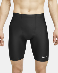 Nike  Dri-Fit Fast 1/2 Half Length Running Tights Black Large