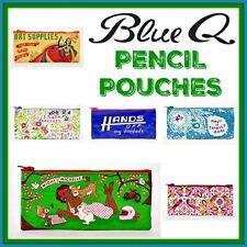 Blue Q PENCIL Zipper Pouch Bag Case Travel Makeup Wallet Office School Supplies!