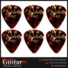 "6 X Fender 451 ""slightly Smaller"" Standard Shape Heavy Classic Celluloid Picks"
