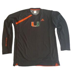Adidas Men's Miami Hurricanes Long Sleeve Shooter Shirt
