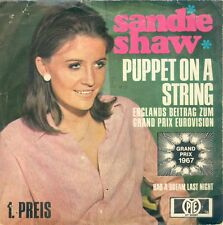 "SANDIE SHAW - PUPPET ON A STRING ( GERMAN PYE 200081) 7""PS  1967"
