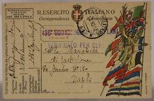 POSTA MILITARE 41 13.10.1918 TIMBRO LINEARE 136a SQUADRIGLIA AEROPLANI #XP378E