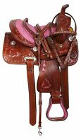 Y&Z Enterprises Western Premium Leather Western Racing Horse Saddle 10-12
