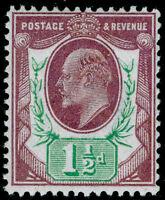 SG287 SPEC M10(-), 1½d dull reddish purple & green (F), NH MINT. Cat UNLISTED.