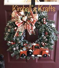 Christmas Vintage Truck Wreath