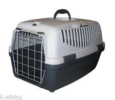 Stefanplast Gulliver 3 Pet Carrier grau mit Metalltür Transportbox Hunde Katzen