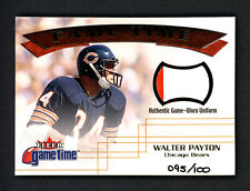 Walter Payton 2001 Fleer Game Time Card Bears Game Used Patch #95/100 158377