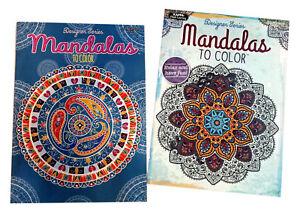 Mandalas to Color Adult Coloring Book Designer Series Books 2 Pack NEW