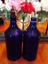 NO.1 COBALT BLUE GLASS CARTER'S INKWELL USA FOUNTAIN PEN INK WELL BOTTLES 32 OZ